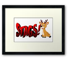 Baby Stags Framed Print
