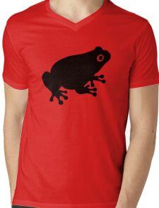 Black toad frog Mens V-Neck T-Shirt