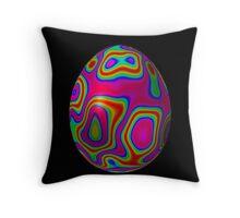 Psychadelic Easter Egg 5 Throw Pillow