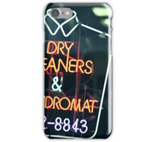 Dry cleaners and Laundromat Neon Sign in NYC iPhone Case/Skin
