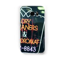 Dry cleaners and Laundromat Neon Sign in NYC Samsung Galaxy Case/Skin