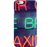 Hair color - eye brow waxing neon sign in NYC iPhone Case/Skin