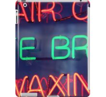Hair color - eye brow waxing neon sign in NYC iPad Case/Skin