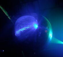 Mirror Ball with Blue Lights by Chris Mehl