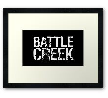 Battle Creek - White Framed Print