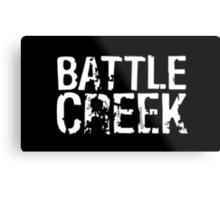 Battle Creek - White Metal Print