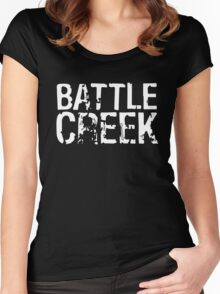 Battle Creek - White Women's Fitted Scoop T-Shirt