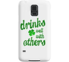 DRINKS WELL WITH OTHERS Samsung Galaxy Case/Skin