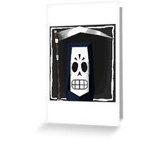 Manny Calavera Greeting Card