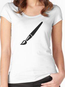 Painter brush Women's Fitted Scoop T-Shirt