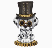 Cute Steampunk Dalmatian Puppy Dog by Jeff Bartels