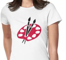 Color palette brushes Womens Fitted T-Shirt