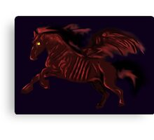 Thestral #Red Canvas Print