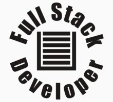 Full Stack Developer - White Programmer Shirt by ramiro
