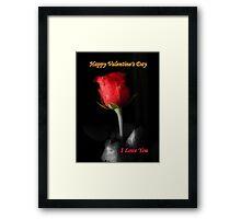 *Valentine Rose* Framed Print