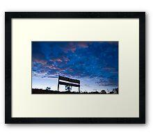 Block Ten Framed Print