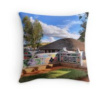 Colourful housing Throw Pillow