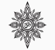 Intricate Yoga Om Star  by Jeff Bartels