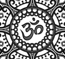 Intricate Yoga Om Star  Sticker