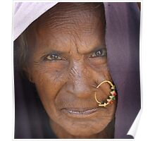 Old Indian woman Poster