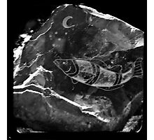 10,000 minute old Rock Carving Photographic Print