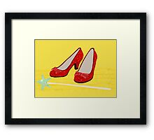 Ruby Slippers Framed Print