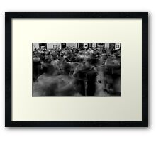 Contra Dancing Framed Print