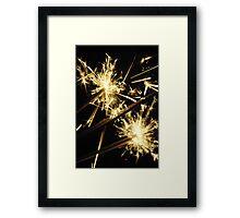 New Year Eve Sparklers Framed Print