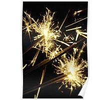 New Year Eve Sparklers Poster
