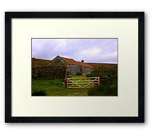 Old Barns Framed Print