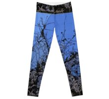 Branches in Blue Leggings