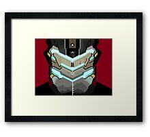 Isaac Clarke 8-bit Framed Print