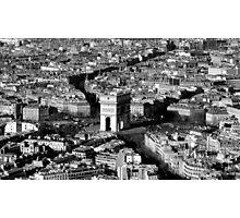 Arc de Triomphe and Surrounding Parisienne Cityscape Photographic Print