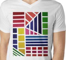 Acrylic Rainbow Mens V-Neck T-Shirt