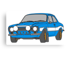 1970 Ford Escort RS2000 Fast and Furious Paul Walker's car Black Outline Colour fill. Canvas Print