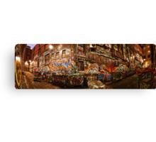 City Lights - Hosier Lane, Melbourne Canvas Print