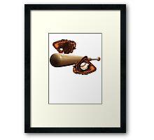 Baseball Mitt Bat and Ball Framed Print