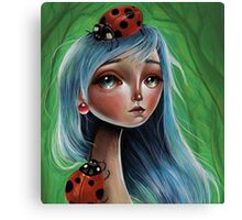 Miss Lady Bug Canvas Print