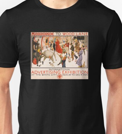 'London Underground' Vintage Poster (Reproduction) Unisex T-Shirt