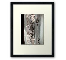 nosy neighbor Framed Print