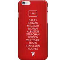 1985 Manchester United FA Cup Final Team iPhone Case/Skin