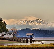 House on Luhr Beach by Bryan Peterson