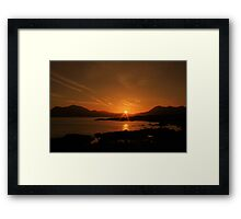 Connemara sunrise Framed Print