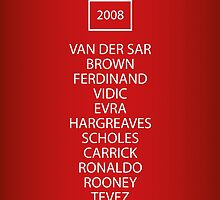 2008 Manchester United Champions League Final Team by RED DAVID
