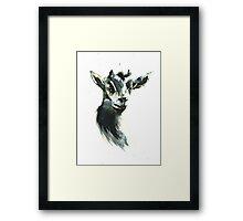 Goat Woman Portrait Framed Print