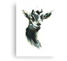 Goat Woman Portrait Canvas Print