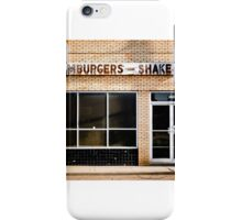 Hamburgers & Shakes iPhone Case/Skin