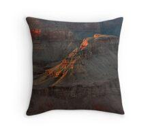 Temple At Sunset -  Grand Canyon Throw Pillow