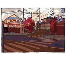 Crossing Ginko Street Photographic Print