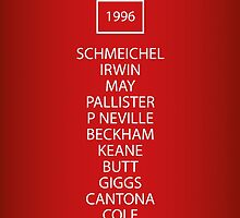 1996 Manchester United FA Cup Final Team by RED DAVID